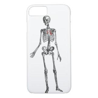Coque iPhone 7 Squelette avec la copie graphique de coeur