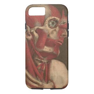 Coque iPhone 7 Tête vintage, cou, et épaules de l'anatomie |