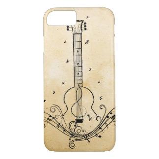 Coque iPhone 7 Texture de papier de remous de feuille de musique