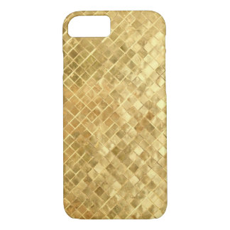 Coque iPhone 7 Texture d'or