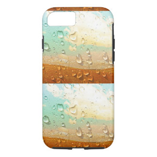 Coque iPhone 7 Texture fraîche, gouttelettes d'eau sur la pierre