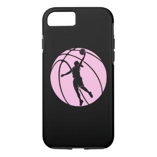 Coque iPhone 7 Tir de silhouette de basket-ball de fille