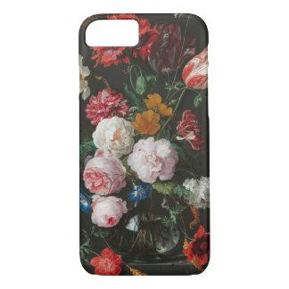 Coque iPhone 7 Toujours caisse florale foncée de téléphone de la