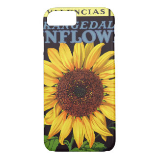 Coque iPhone 7 Tournesol vintage d'Orangedale d'art d'étiquette