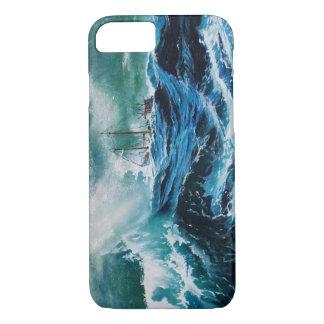 Coque iPhone 7 Transportez-vous en mer dans la tempête/bleu