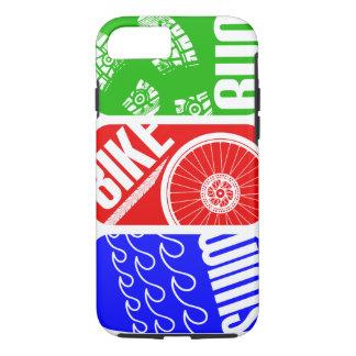 Coque iPhone 7 TRI course de vélo de bain de triathlon