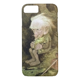 Coque iPhone 7 Troll avec sa grenouille d'animal familier