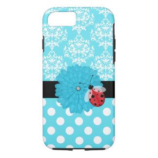 Coque iPhone 7 Turquoise mignonne florale avec le cas de l'iPhone
