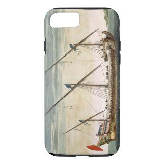 Coque iPhone 7 Un Galleass trois-mâté en cours par l'aviron, du