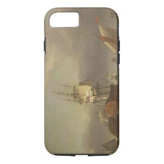 Coque iPhone 7 Un paysage marin avec la Homme-de-Guerre et le
