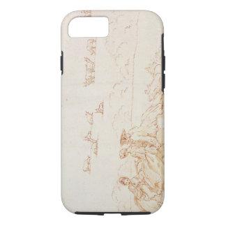 Coque iPhone 7 Un pique-nique : Deux dames et un monsieur (lavage
