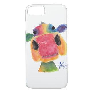 """Coque iPhone 7 Vache fouineuse caisses de galaxie de """"Bridget"""""""