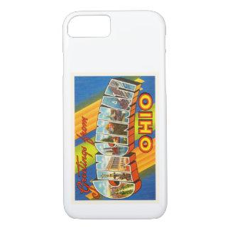 Coque iPhone 7 Vieux souvenir vintage de voyage de Cincinnati