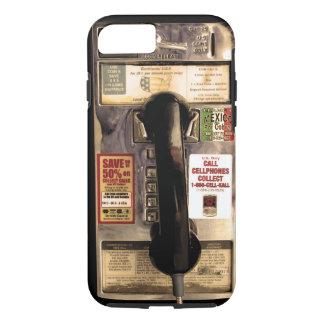 Coque iPhone 7 Vieux téléphone payant drôle