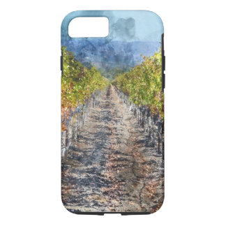 Coque iPhone 7 Vignoble en automne dans Napa Valley la Californie