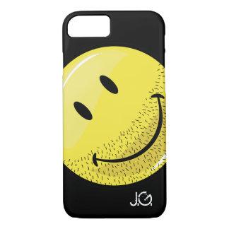 Coque iPhone 7 Visage souriant barbu poussiéreux de Ruff