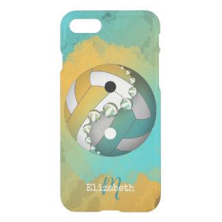 Coque iPhone 7 volleyball décoré d'un monogramme de yang du yin