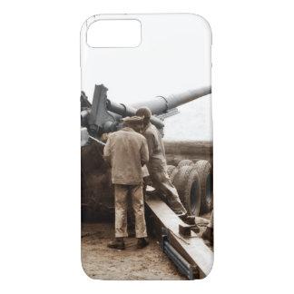 Coque iPhone 8/7 2ÈME GUERRE MONDIALE d'artilleurs d'Afro-américain
