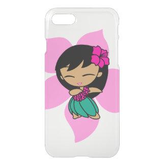 Coque iPhone 8/7 Aloha fille de danse polynésienne rose hawaïenne