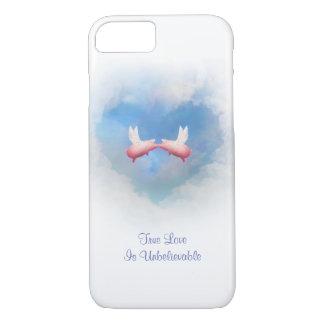 Coque iPhone 8/7 Amour Baiser-Incroyable de porcs de vol