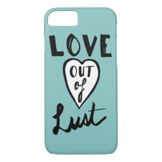 Coque iPhone 8/7 Amour hors de Girly rose minimal de convoitise