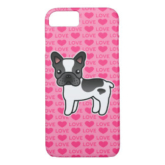 Coque iPhone 8/7 Amour pie noir de bouledogue français de bande
