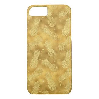 Coque iPhone 8/7 Ananas étincelants d'or