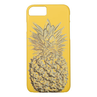 Coque iPhone 8/7 Ananas sur l'or jaune