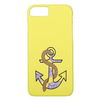 Coque iPhone 8/7 Ancres pour toujours bleu et pourpre