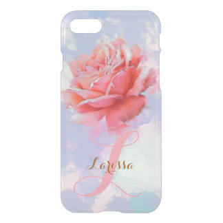 Coque iPhone 8/7 aquarelle florale de rose de rose décorée d'un