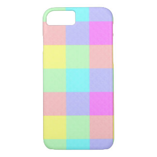 Coque iPhone 8/7 Arc-en-ciel en pastel Checkered