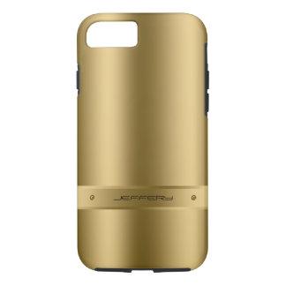 Coque iPhone 8/7 Arrière - plan métallique d'or avec des accents de