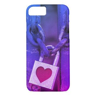 Coque iPhone 8/7 Art de rue de serrure d'amour