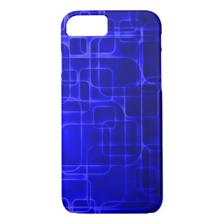 Coque iPhone 8/7 Art moderne de laser de bleu