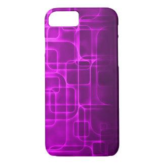 Coque iPhone 8/7 Art moderne de laser de pourpre