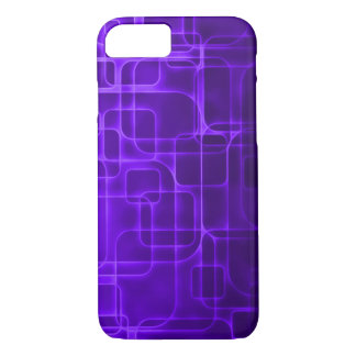 Coque iPhone 8/7 Art moderne de laser d'indigo