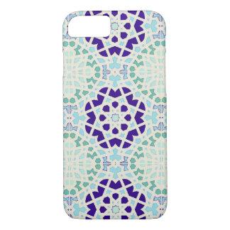 Coque iPhone 8/7 Art moderne tuile de motif marocain vintage