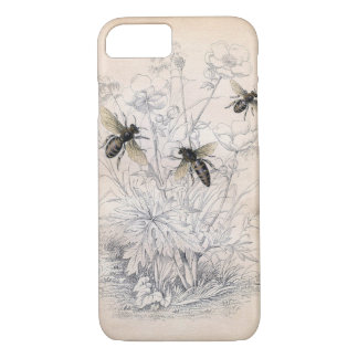 Coque iPhone 8/7 Art vintage d'abeille de miel
