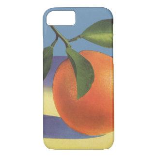 Coque iPhone 8/7 Art vintage d'étiquette de caisse de fruit,
