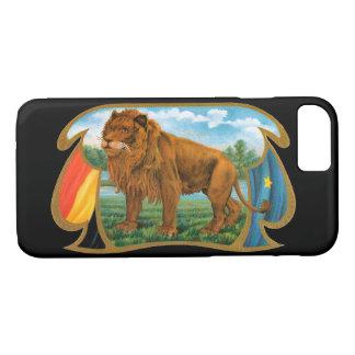 Coque iPhone 8/7 Art vintage d'étiquette de cigare, lion, roi de la