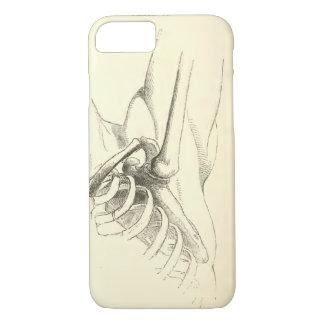 Coque iPhone 8/7 Articulation de l'épaule vintage de l'anatomie |