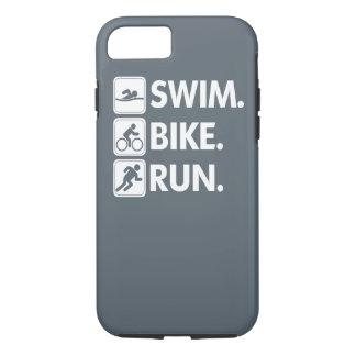 Coque iPhone 8/7 Bain. Vélo. Courez… la fierté de triathlon