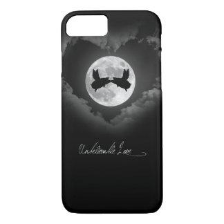 Coque iPhone 8/7 Baisers incroyables de porcs d'Amour-Vol