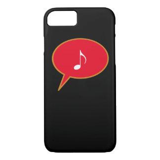 Coque iPhone 8/7 ballon de la parole de musique