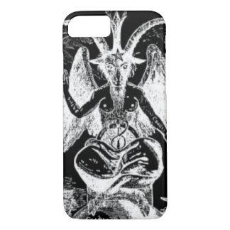 Coque iPhone 8/7 Baphomet noir et blanc