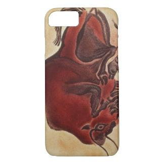Coque iPhone 8/7 Basculez la peinture d'un bison, défunt