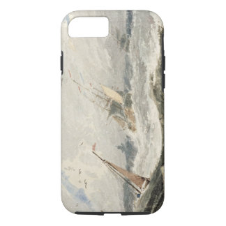 Coque iPhone 8/7 Bateaux sur une mer orageuse (la semaine au-dessus