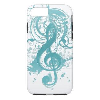 Coque iPhone 8/7 Belles notes fraîches de musique avec des remous