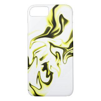 Coque iPhone 8/7 Blanc et jaune noirs