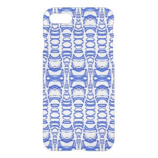 Coque iPhone 8/7 Blanc moderne de la BG de coutume de bleu des